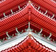 Decorative red roof, Gourmet China tour