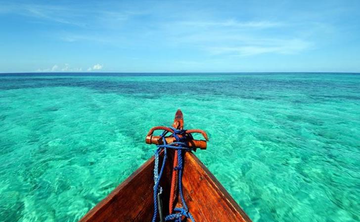 Ras Nungwi Beach Hotel, Zanzibar - view from a dhow