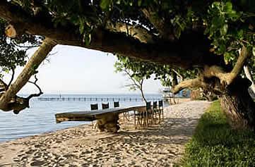 Knai Bang Chatt, Kep, Cambodia- outdoor long table