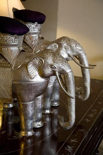 Raffles Le Royal, Phnom Penh, Cambodia - stairwell elephant