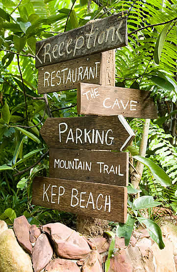 Veranda Natural Resort, Kep, Cambodia - signage