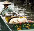 Chakrabongse Villas, Bangkok, Thailand - boat woman trading