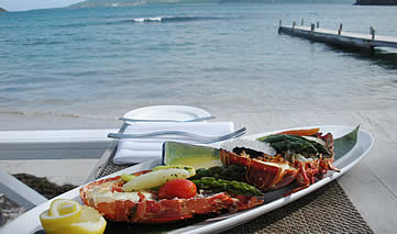 Turtle Beach Villas, St Kitts, Caribbean - food