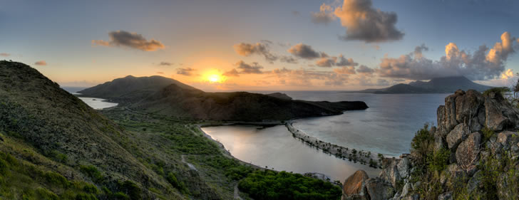 Turtle Beach Villas, St Kitts, Caribbean - panoramic view