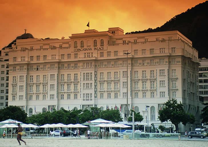 Copacabana Palace, Rio de Janeiro, Brazil - hotel view