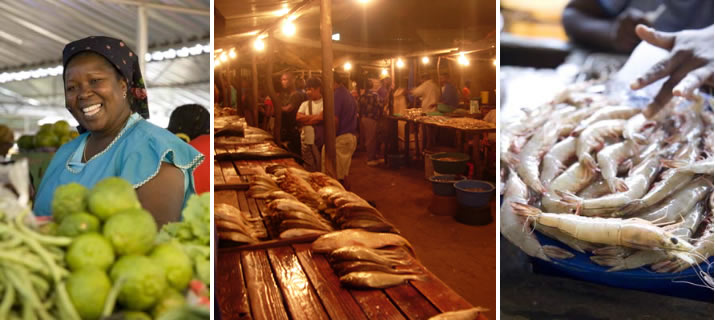 Maputo fish market, Mozambique - photography by Dawie Verwey and Robyn Hodson