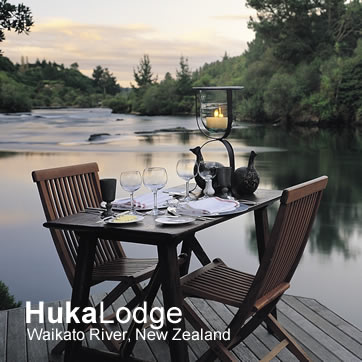 Huka Lodge, Waikato River, New Zealand