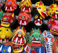Painted masks, Guatemala