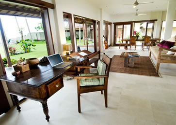 Collection of contemporary and traditional décor at Villa Citakara Sari, East Bali, Indonesia