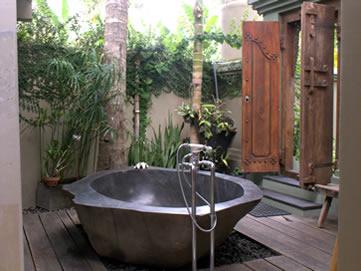 Spa bath at Villa Citakara Sari, East Bali, Indonesia