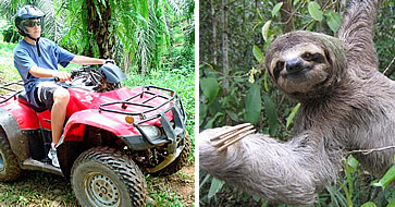 Arenas Del Mar, Manuel Antonio - ATV and sloth