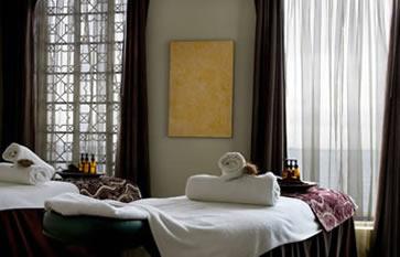 LI'TYA Organic Spa, massage tables