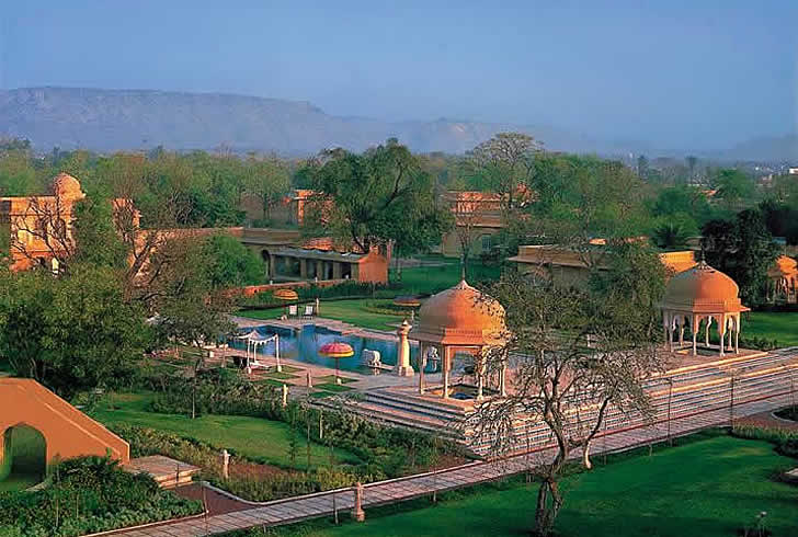 India, Jaipur, the Oberoi Rajvilas Hotel
