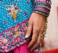 India, sari and bangles