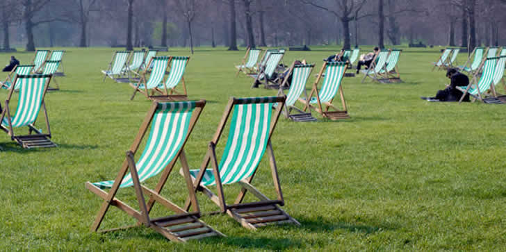 London - deckchairs in Hyde Park