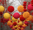 Lanterns across avenue of trees, Gourmet China tour