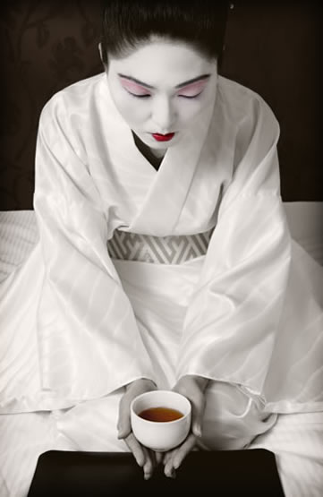 Gourmet travel, geisha
