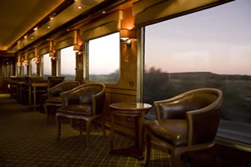 The Blue Train, South Africa - viewing carriage