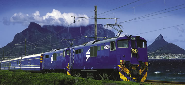 The Blue Train, South Africa - leaving Cape Town