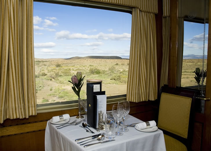 The Blue Train, South Africa - dining car