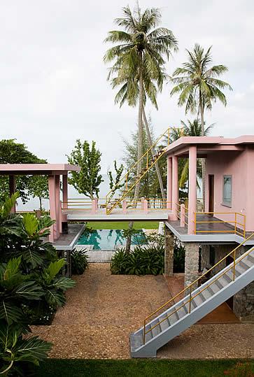 Knai Bang Chatt, Kep, Cambodia- pink deck