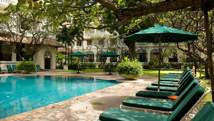 Raffles Le Royal, Phnom Penh, Cambodia - Outside big pool