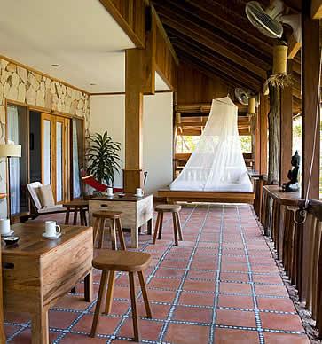 Veranda Natural Resort, Kep, Cambodia - room and coffee table