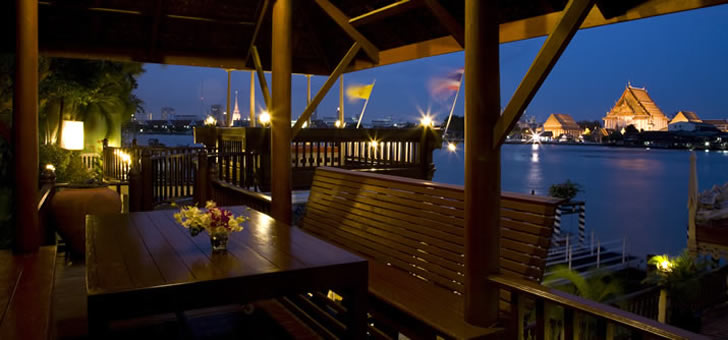 Chakrabongse Villas, Bangkok, Thailand - river view from deck