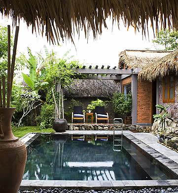 Pilgrimage Village, Hue, Vietnam- villa pool area