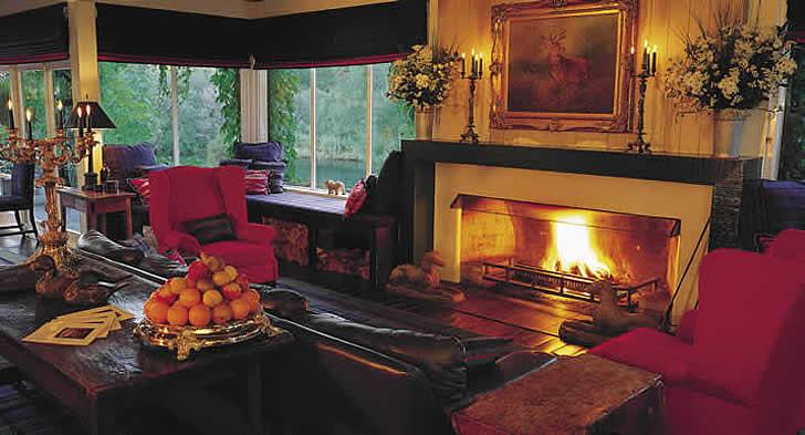 Lounge, Huka Lodge, New Zealand