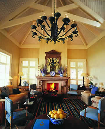 Lounge at The Lodge, Kauri Cliffs, New Zealand