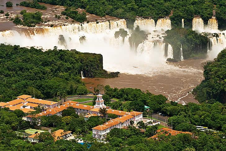 Hotel das Cataratas, Iguassu Falls, Brazil - aerial view