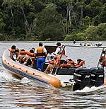 Hotel das Cataratas, Iguassu Falls, Brazil - boat trip