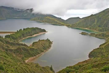 Azores, Portugal - mountain lake