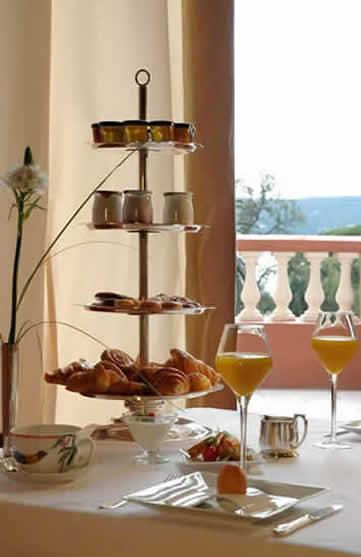 Petit dejeuner, Hôtel Le Beauvallon
