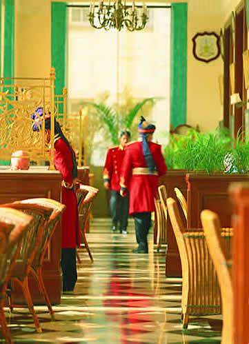 India, Delhi, The Imperial Hotel, verandah