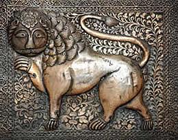 India, Jodhpur, lion relief, photographer Steven Hummel